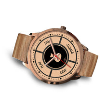 Load image into Gallery viewer, Save-Invest-Give-Play - Rose Gold Watch (10 band options)