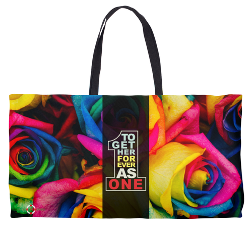 Together Forever As One - Colorful Weekender Tote Bag