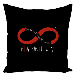 FAMILY - Throw Pillows (Black)