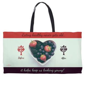 Eating Healthy Keeps Us Young - Weekender Tote Bag
