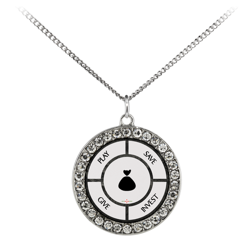 Save-Invest-Give-Play - Necklace (Stone Coin)