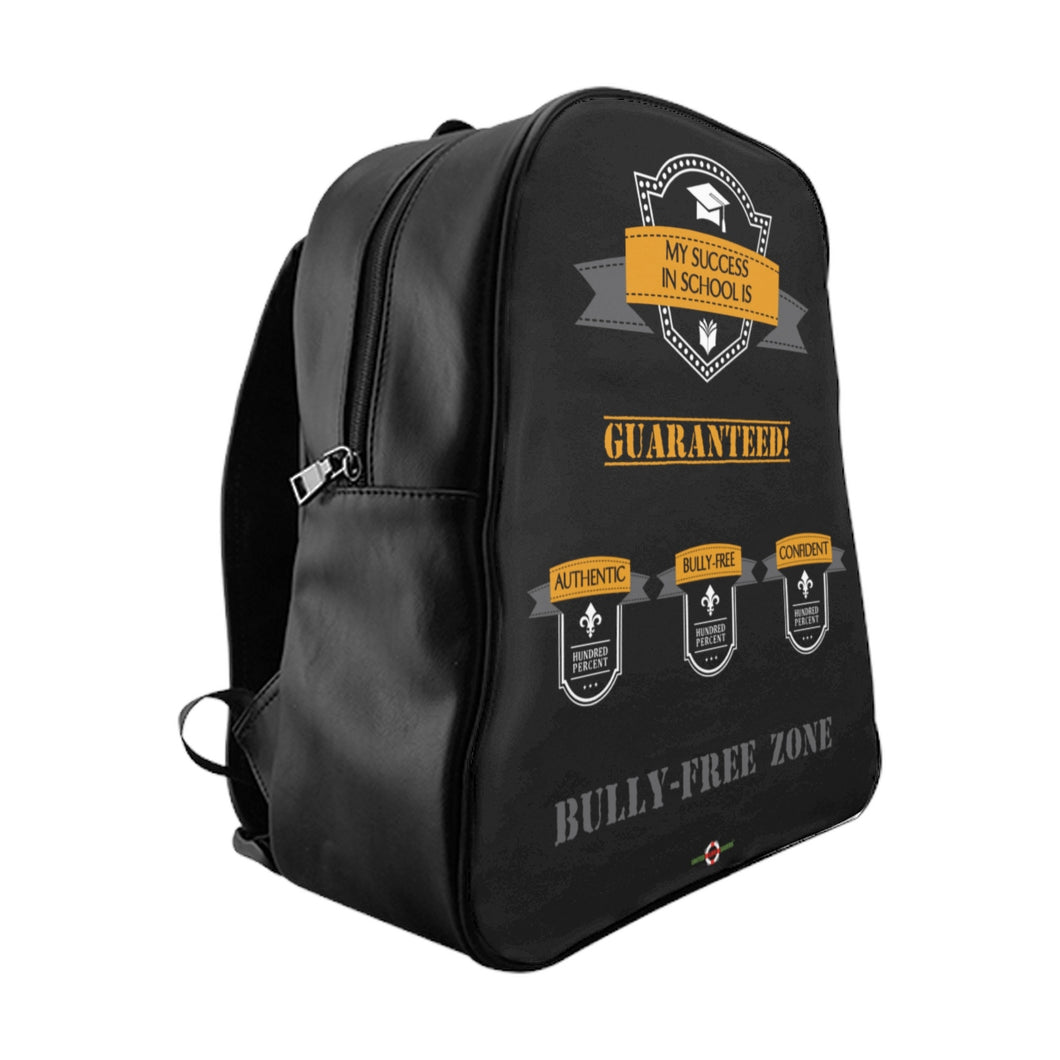 Success - School Backpack (Black front)