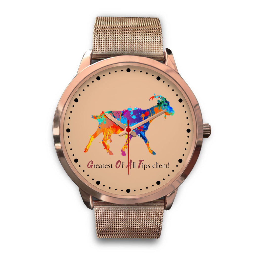 GOAT Client - Rose Gold Watch (10 Band Options)-