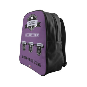 Success - School Backpack (Purple front)