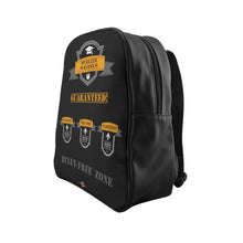 Load image into Gallery viewer, Success - School Backpack (Black front)