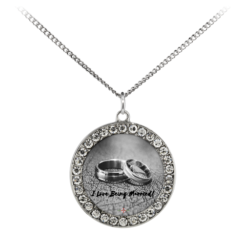 I Love Being Married - Necklace (Stone Coin)