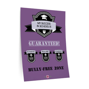 School Success Guaranteed - Wall Decals (Purple)