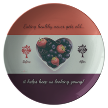 Load image into Gallery viewer, Eating Healthy Keeps Us Young - Decorative Plate