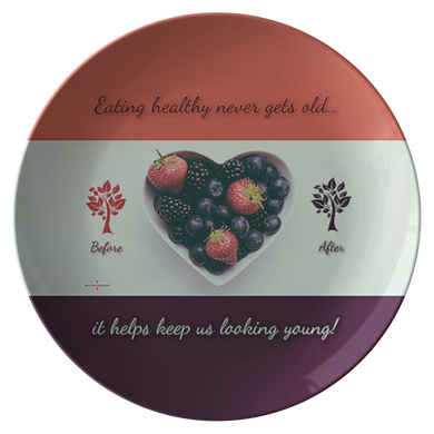 Eating Healthy Keeps Us Young - Decorative Plate