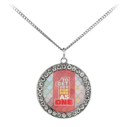 Together Forever As One - Necklace (Stone Coin)