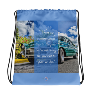 Live in the Present - Drawstring bag