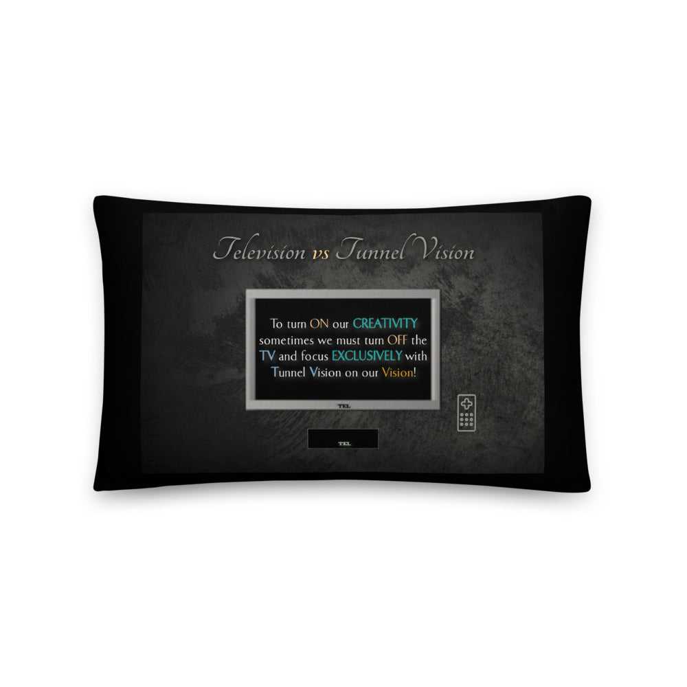 Television vs Tunnel Vision - Throw Pillow