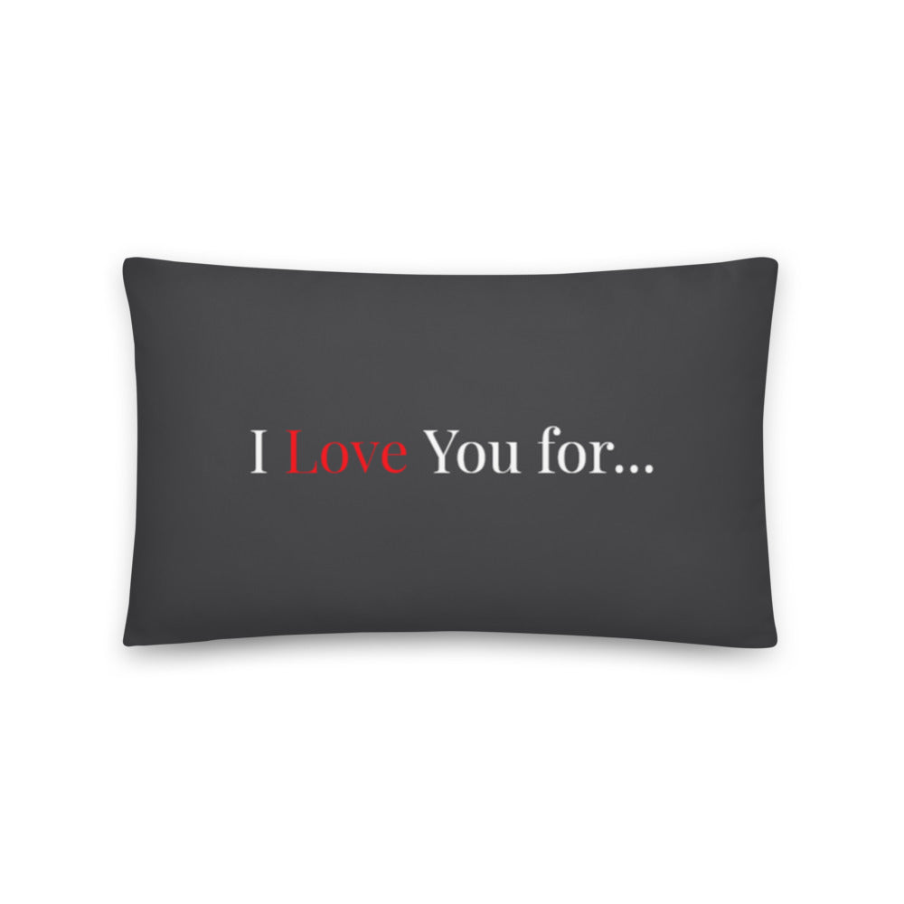 I Love You for No Reason - Throw Pillow