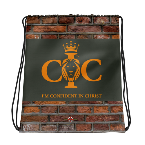 Brick Solid Confidence in Christ - Drawstring bag