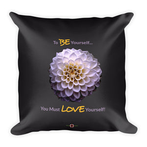 Love Yourself - Throw Pillow (with hidden zipper)