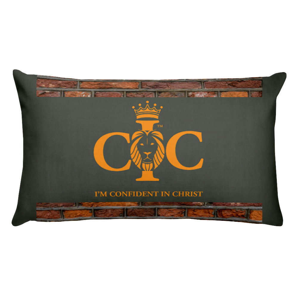 Confident in Christ - Throw Pillow (with hidden zipper)