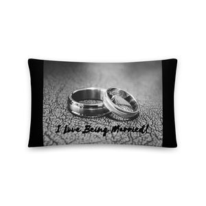 I Love Being Married - Throw Pillow