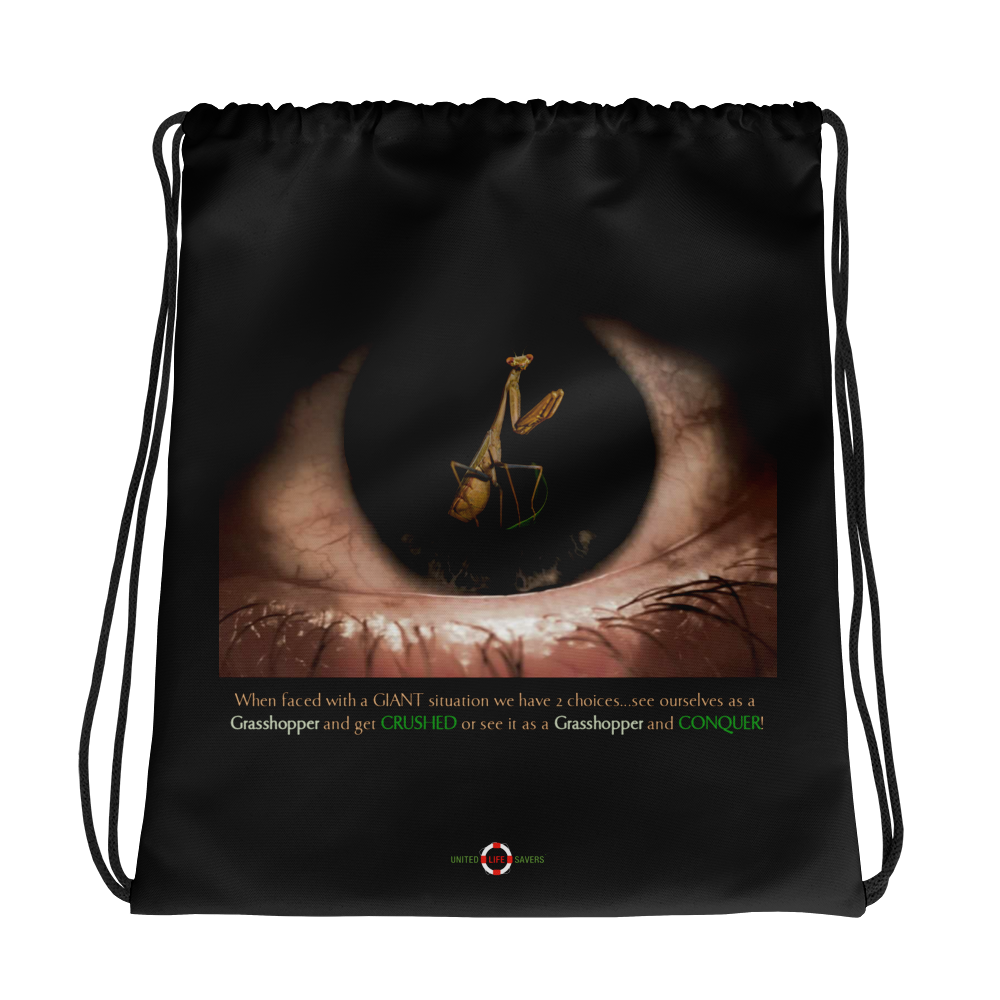 Conquer or Get Crushed - Drawstring bag