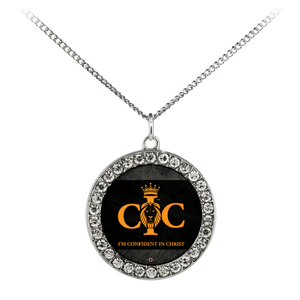 Confident in Christ - Necklace (Stone Coin)