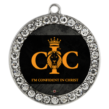 Load image into Gallery viewer, Confident in Christ - Necklace (Stone Coin)