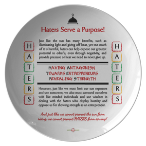 HATERS serve a Purpose - Decorative Plate