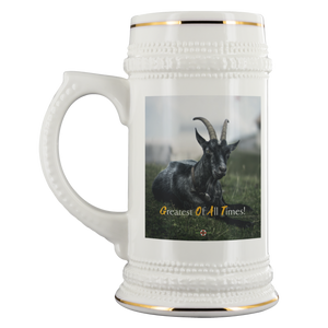 Being StubBORN to be G.O.A.T. - Beverage Stein