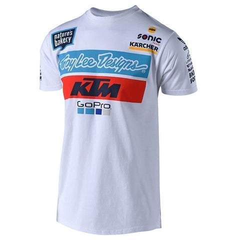 T-shirt KTM TROY LEE DESIGNS TEAM Branco