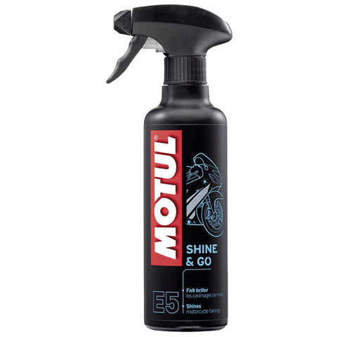 Spray Abrilhantador de Plásticos MOTUL E5 SHINE & GO 400 ml