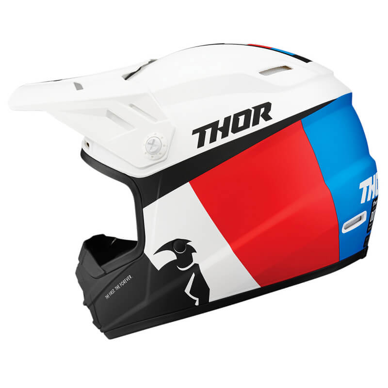 Capacete Infantil THOR SECTOR RACER WHITE/BLUE/RED 2021