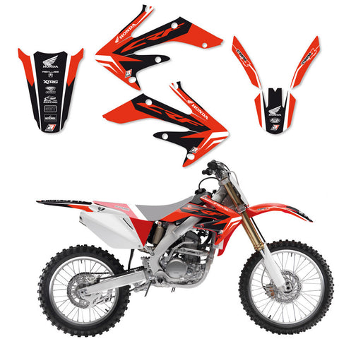 Kit de autocolantes BLACKBIRD DREAM 4 HONDA CRF 250R 04-09, CRF 250X 04-19
