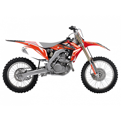 Kit de autocolantes BLACKBIRD DREAM 4 HONDA CRF 250R 14-17, CRF 450R 13-16