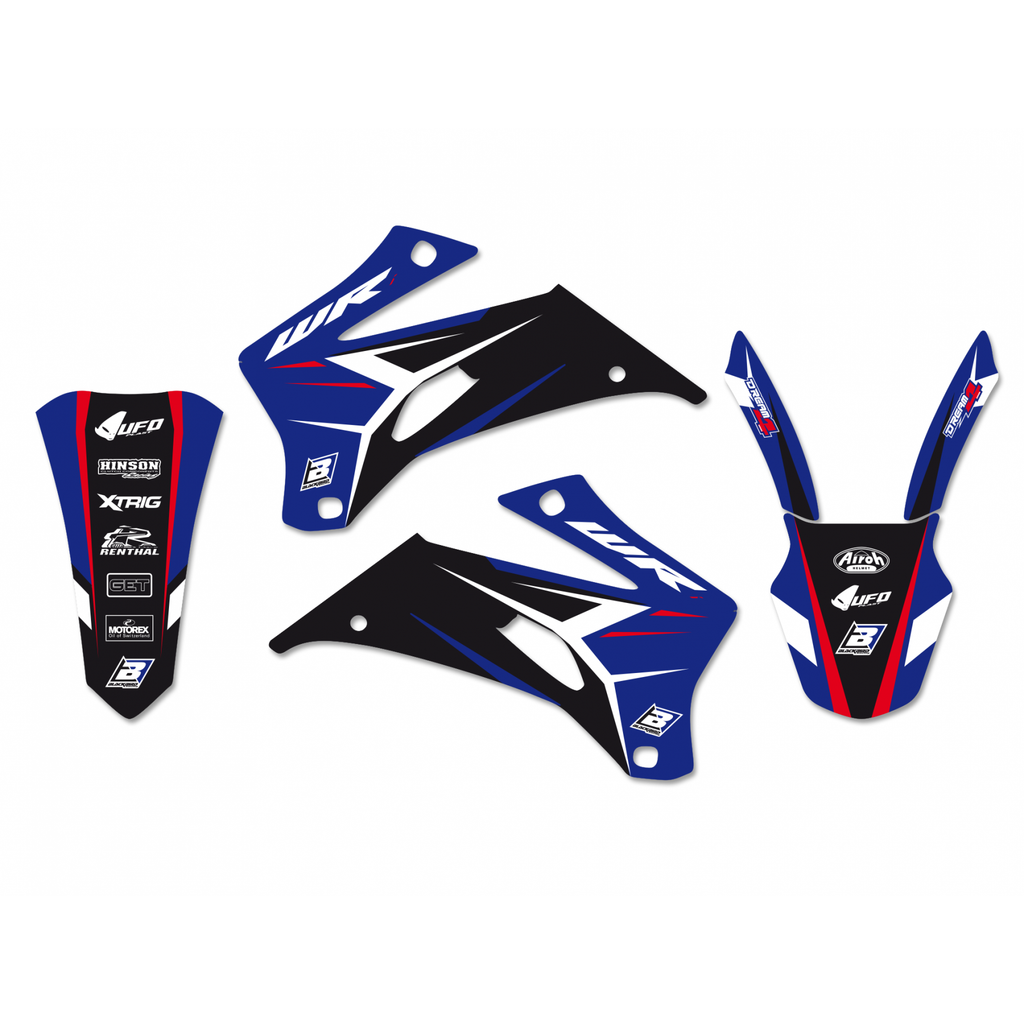 Kit de autocolantes BLACKBIRD DREAM 4 para YAMAHA WRF 250 07-14 WRF 450 07-11
