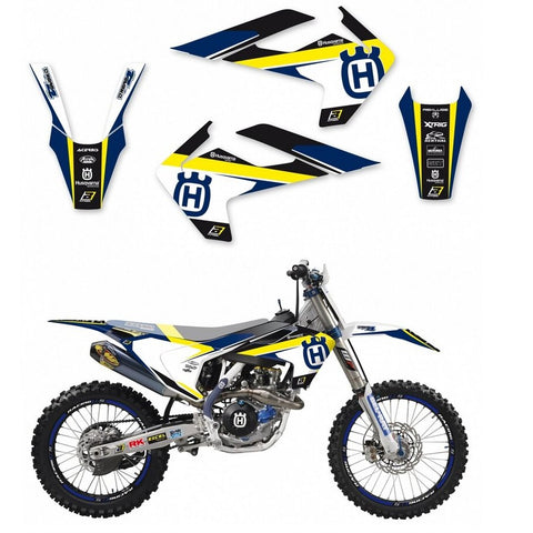 Kit de Autocolantes BLACKBIRD DREAM 4 para HUSQVARNA TC/FC 16-18 TE/FE 17-19