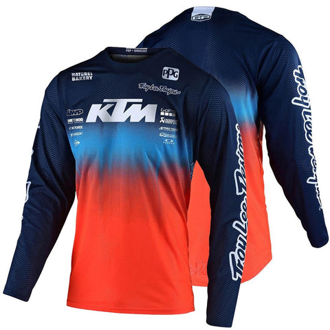 Camisola KTM TEAM TROY LEE DESIGNS GP AIR STAIN´D Azul Marinho/ Laranja 2020