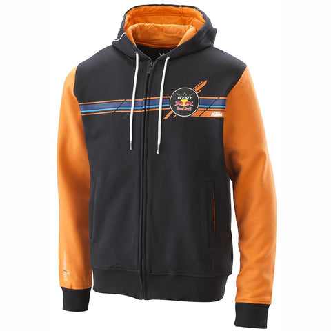 Sweat com fecho central e capuz KTM KINI RED BULL STRIPES HOODIE 2020