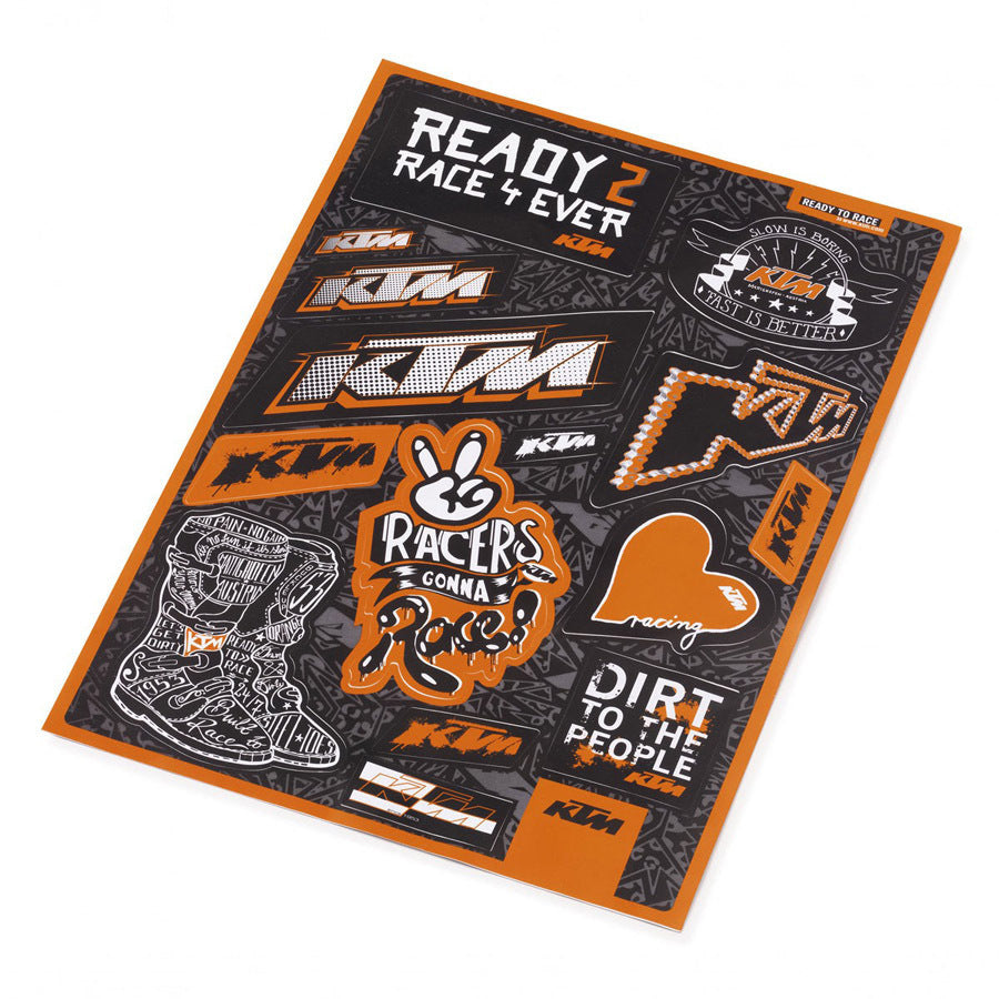 Folha de autocolantes KTM Graphic Sticker Sheet 2015 29x21 cm