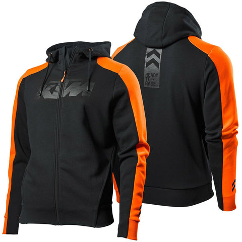 Sweat com fecho central e capuz KTM PURE ZIP HOODIE BLACK 2019