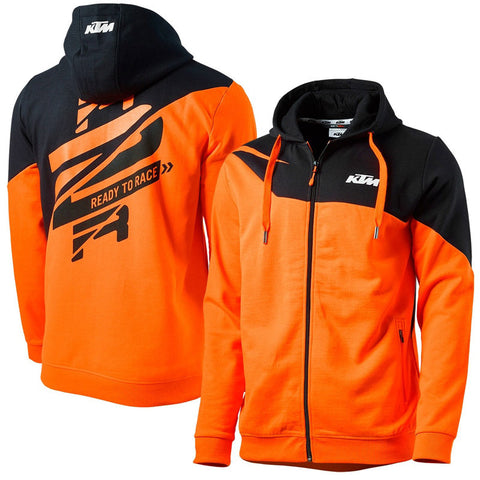 Sweat com fecho central e capuz KTM RADICAL ZIP HOODIE 2019