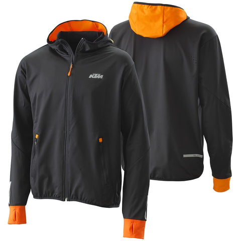 Sweat desportiva com fecho central e capuz KTM EMPHASIS ZIP HOODIE 2020