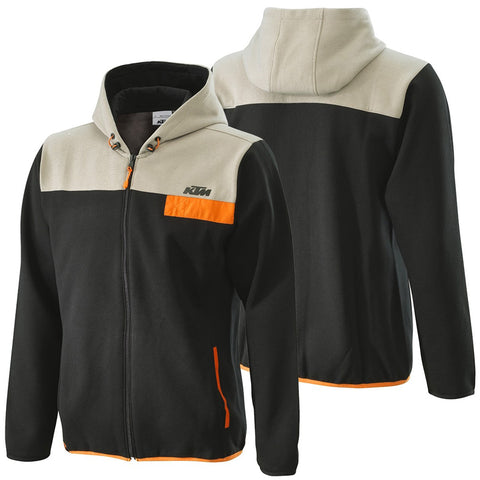 Sweat com fecho central e capuz KTM PURE ZIP HOODIE 2020