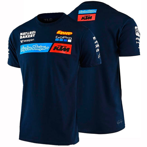 T-shirt KTM TROY LEE DESIGNS TEAM Azul 2020
