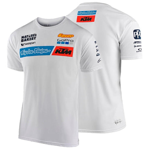 T-shirt KTM TROY LEE DESIGNS TEAM Branco 2020