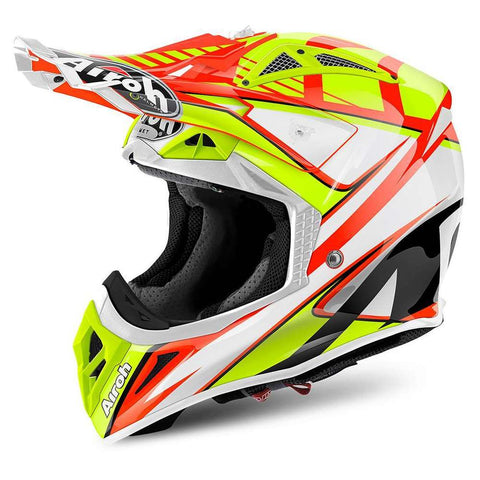 Capacete AIROH AVIATOR 2.2 DOUBLE ORANGE GLOSS 2018