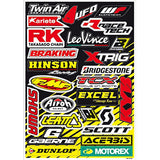 Folha de Autocolantes BLACKBIRD RACING SPONSOR LOGO DECAL KIT A 50x35 cm