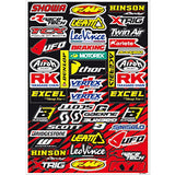 Folha de Autocolantes BLACKBIRD RACING SPONSOR LOGO DECAL KIT C 50x35 cm