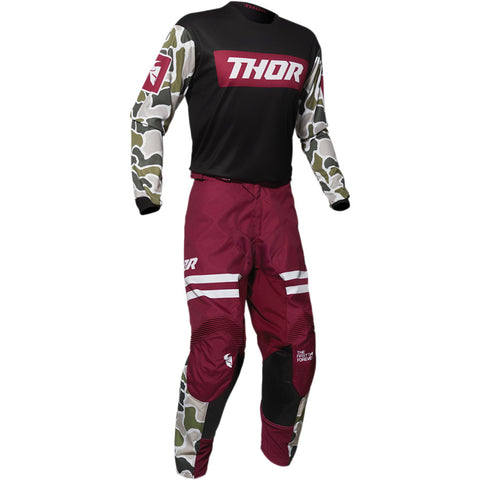Conjunto THOR PULSE FIRE Black/Maroon 2020