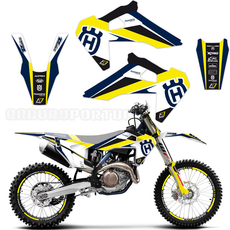 Kit de Autocolantes BLACKBIRD DREAM 4 para HUSQVARNA TC/FC 19-20, TE/FE 2020
