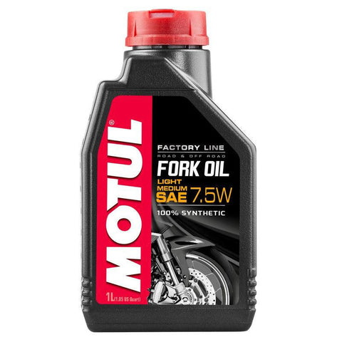 Óleo para Forquilhas MOTUL FACTORY LINE LIGHT MEDIUM 7,5W 1 Litro