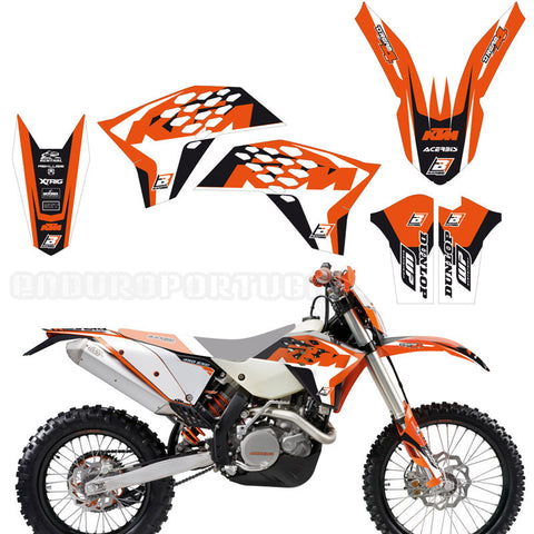 Kit de autocolantes BLACKBIRD RACING DREAM 4 para KTM SX/SX-F 07-10 e EXC/EXC-F 08-11