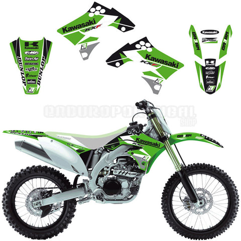 Kit de Autocolantes BLACKBIRD RACING DREAM 3 para KAWASAKI KX-F 450 09-11